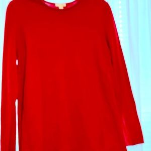 Red sweater - J Jill size M